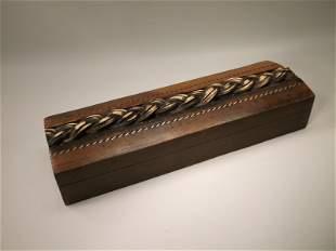 Beautiful Antique Wood Long Box 8 inch