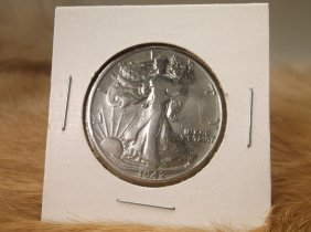 1942 S Us Silver Walking Liberty Half Dollar