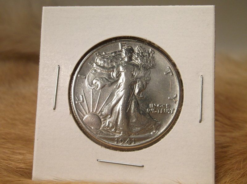 1941 D US Silver Walking Liberty Half Dollar
