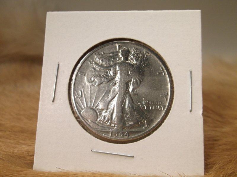 1944 D US Silver Walking Liberty Half Dollar