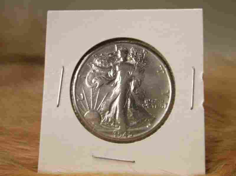 1945 S US Silver Walking Liberty Half Dollar