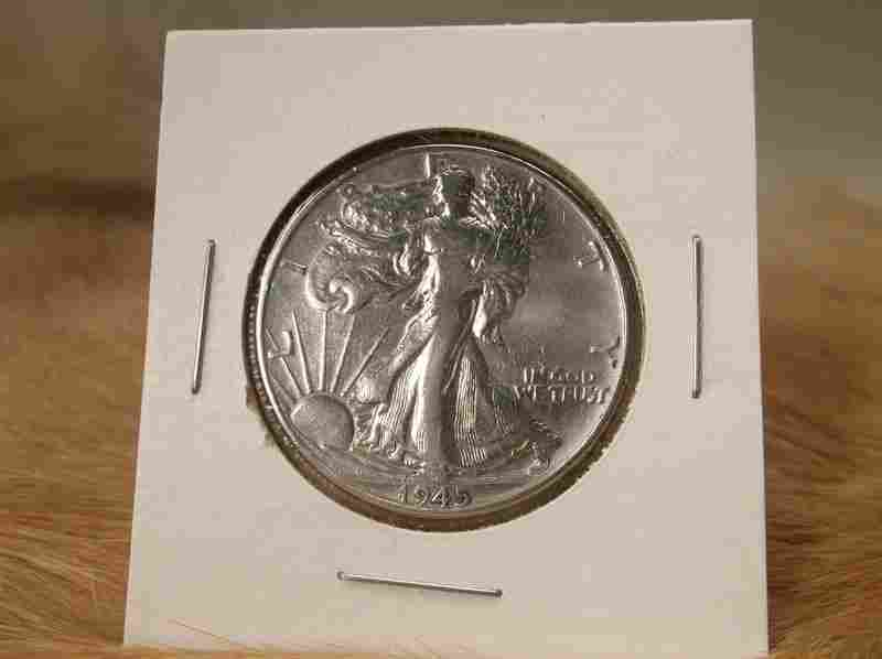 1945 US Silver Walking Liberty Half Dollar