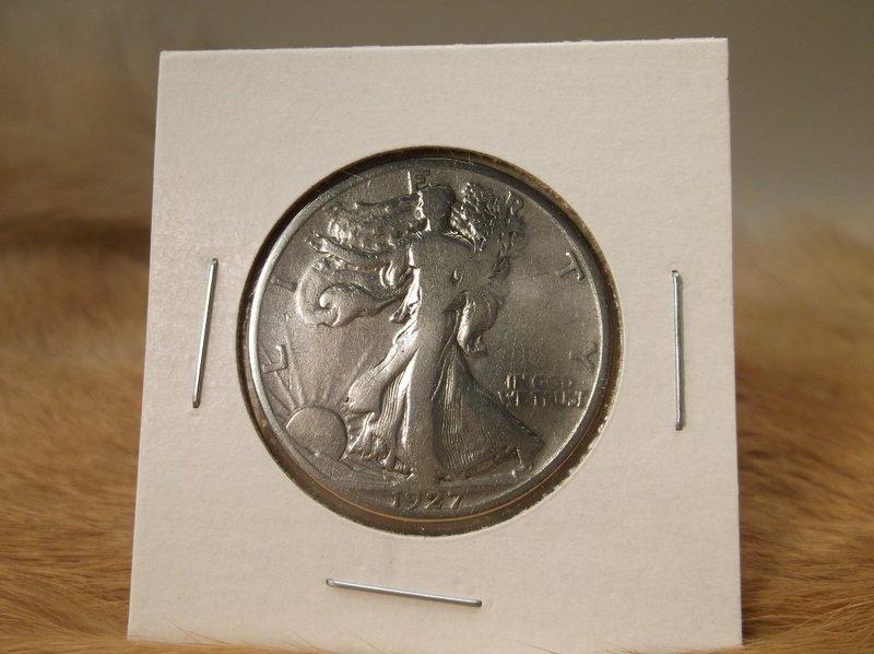 1927 S US Silver Walking Liberty Half Dollar