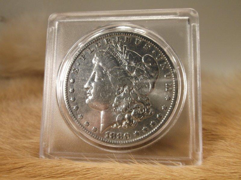 1880 S US Silver Morgan Dollar