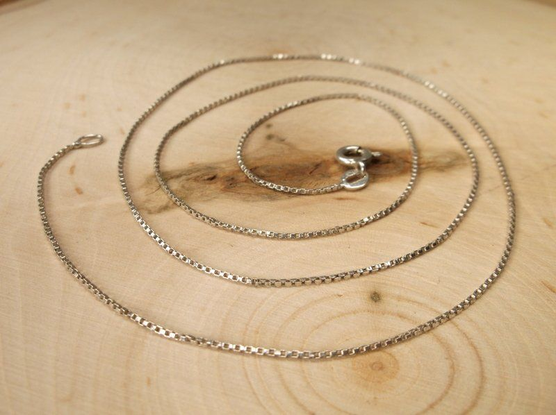 """Beautiful Sterling Silver Chain Necklace 23"""""""