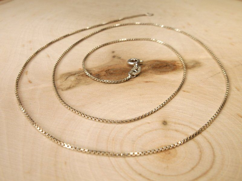 """Beautiful Sterling Silver Chain Necklace 20"""""""