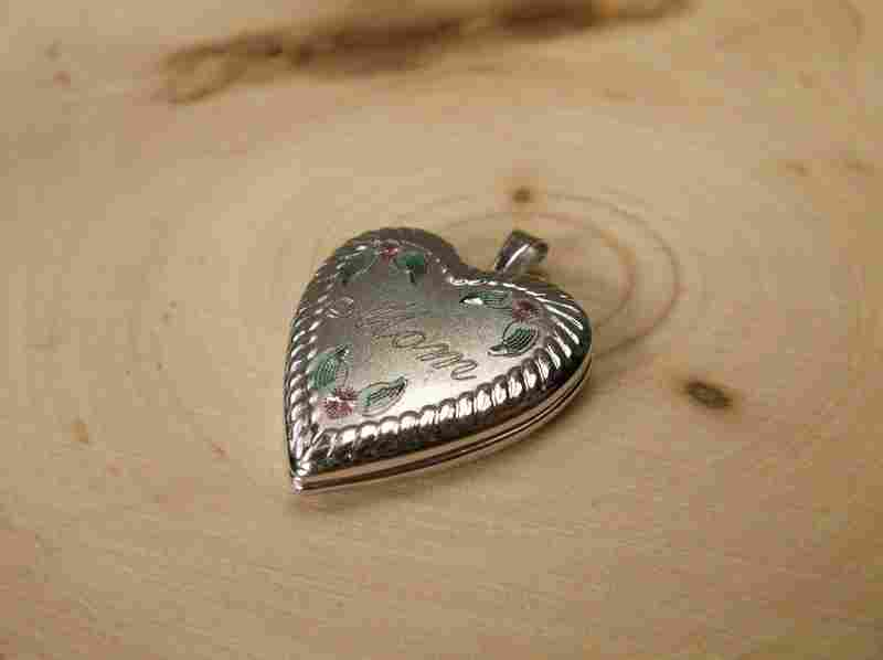 Gorgeous Antique Sterling Silver Mom Locket Pendant