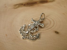 Gorgeous Sterling Silver Anchor Cross Pendant