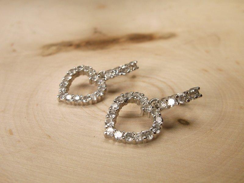 Gorgeous Sterling Silver Heart Earrings
