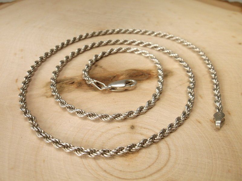 """Gorgeous Heavy Sterling Silver Chain Necklace 20"""""""