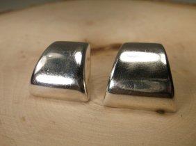 Beautiful Heavy Taxco Sterling Silver Earrings