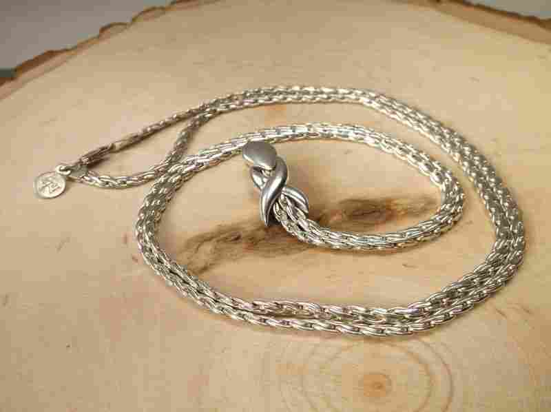 Gorgeous Heavy Sterling Silver Chain Necklace 32""