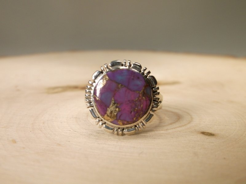 Gorgeous Sterling Silver purple Turquoise Ring 7