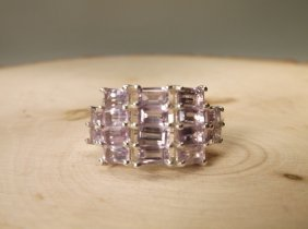 Gorgeous Sterling Genuine Amethyst Ring 6.5