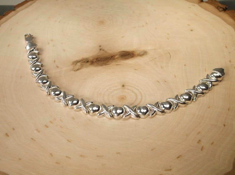 Gorgeous Heavy Sterling Silver Bracelet Thick
