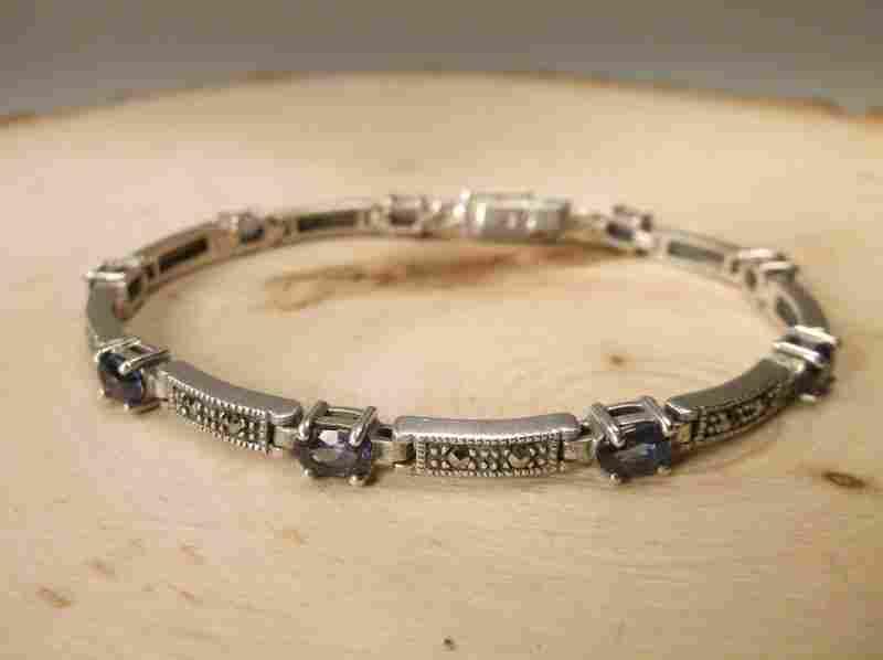 Gorgeous Sterling Genuine Tanzanite Bracelet