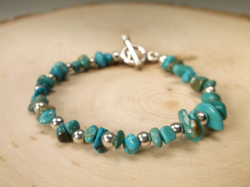 Gorgeous Sterling Silver Turquoise Bracelet