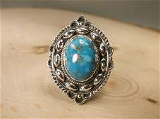 Gorgeous Sterling Silver Turquoise Ring 85