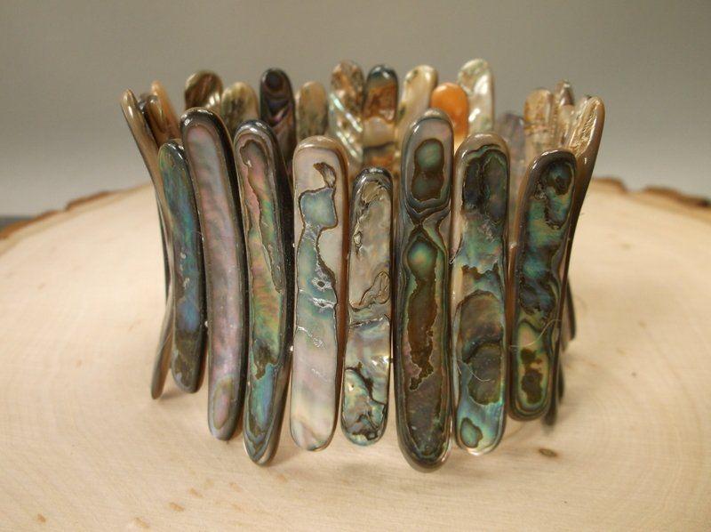 Gorgeous Huge Genuine Abalone Bracelet