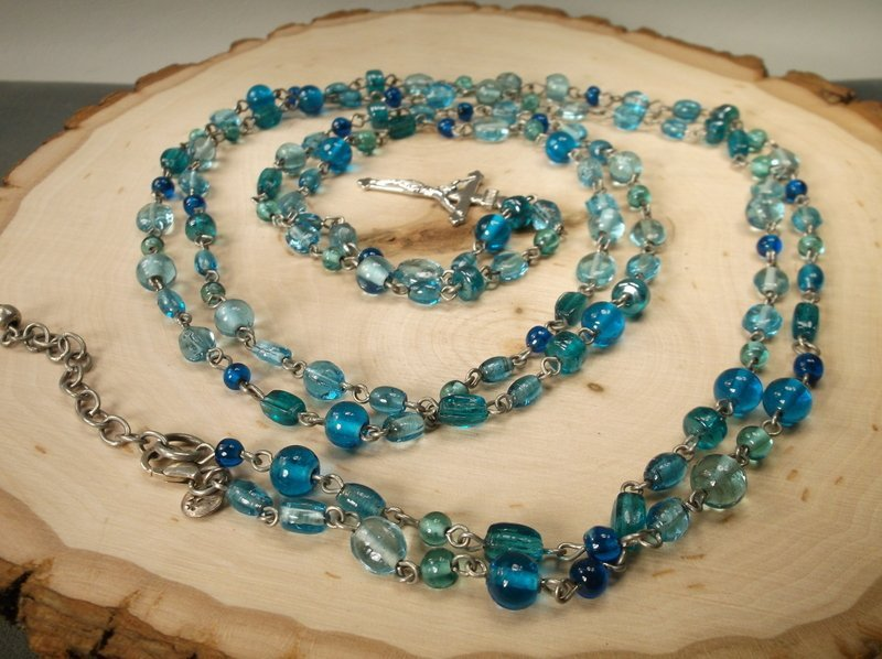 Gorgeous Rosary With Sterling Clasp