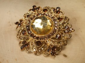 Gorgeous Large Rhinestone Brooch