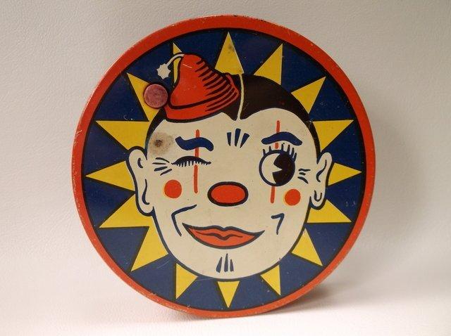 Antique Kirchhof Tin Litho Clown Noise Maker