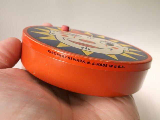 Antique Kirchhof Tin Litho Clown Noise Maker - 2