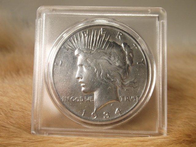 1934 S US Silver Peace Dollar