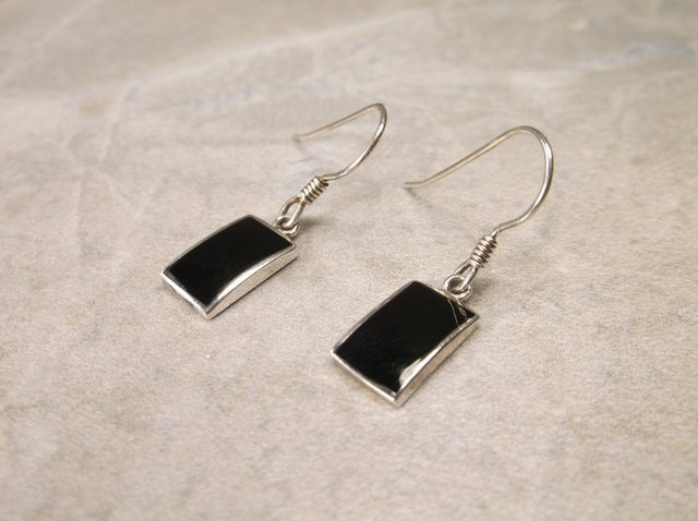 Gorgeous Sterling Silver Onyx Earrings