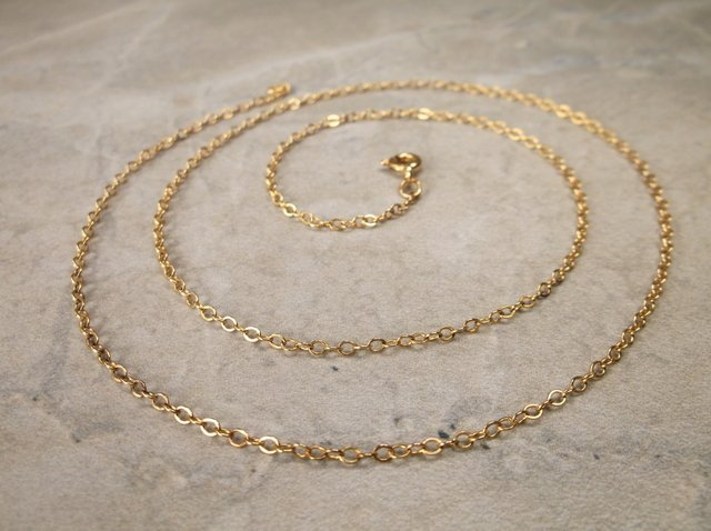 Gorgeous Gold Over Sterling Chain Necklace 18""