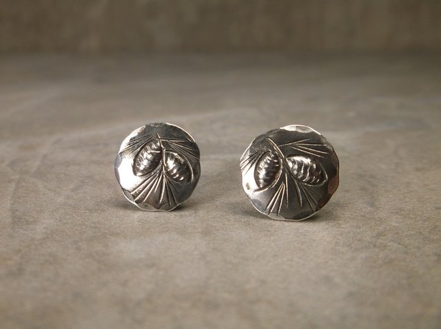Beautiful Antique NYE Sterling Silver Earrings