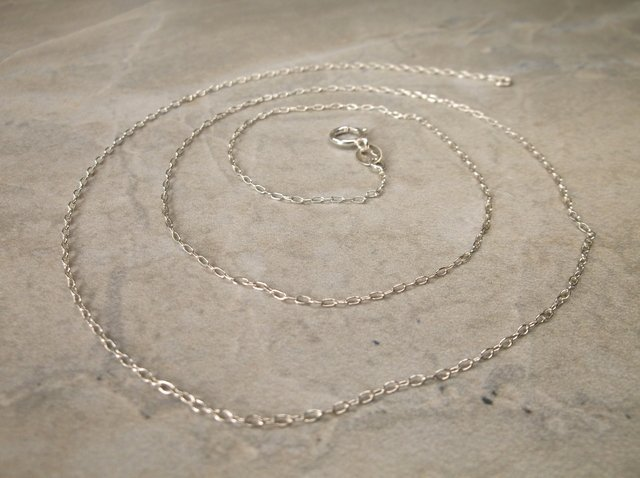 """Gorgeous Sterling Silver Chain Necklace 20"""""""