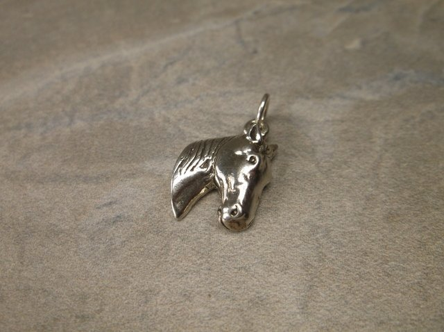 Gorgeous Sterling Silver Horse Charm Pendant