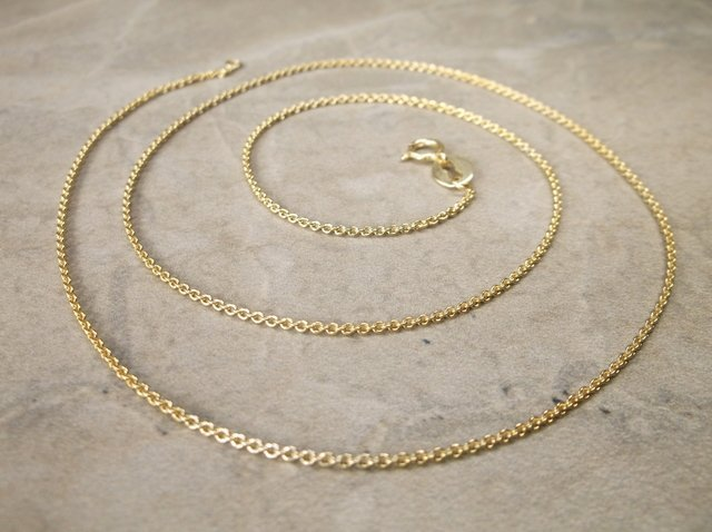 """Gorgeous Gold Over Sterling Chain Necklace 18"""""""