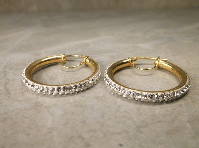 Gorgeous Gold Over Sterling Hoop Earrings