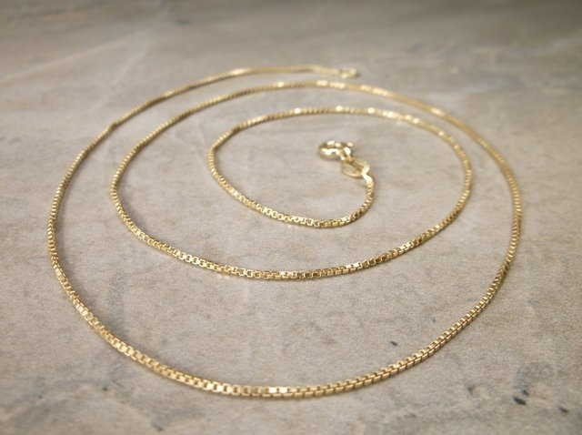 """Gorgeous Gold Over Sterling Chain Necklace 20"""""""