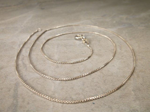 """Gorgeous Sterling Silver Chain Necklace 18"""""""