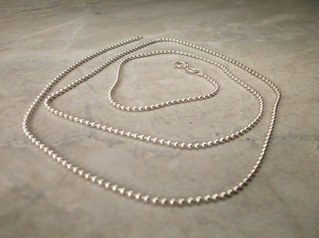 """Gorgeous Sterling Silver Chain Necklace 24"""""""