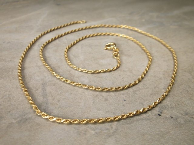 Gorgeous Gold Over Sterling Chain Necklace 20""