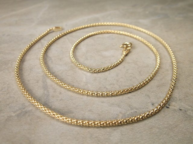 Gorgeous Gold Over Sterling Soft Chain Necklace 18""