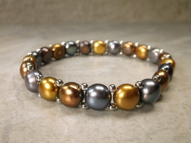Gorgeous Sterling Freshwater Pearl Bracelet