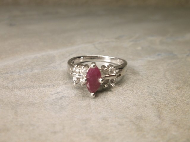 Gorgeous Sterling Genuine Ruby Ring 5