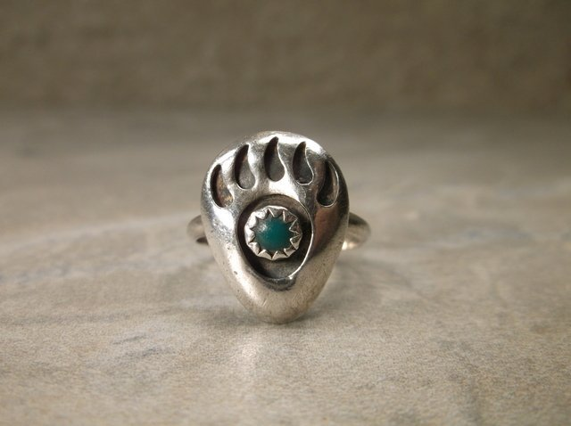 Beautiful Navajo Sterling Turquoise Ring 5