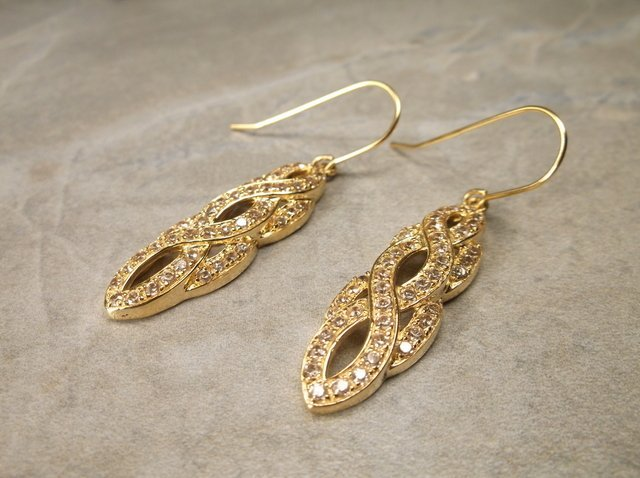 Gorgeous Gold Over Sterling Earrings