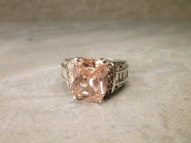 Gorgeous Sterling Pink Tourmaline Ring 8