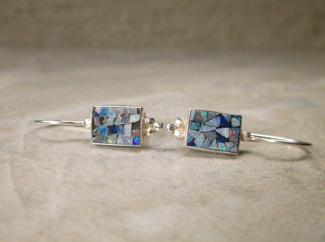 Gorgeous Sterling Silver Fire Opal Earrings