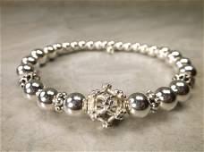 Gorgeous Heavy Sterling Silver Ball Bracelet