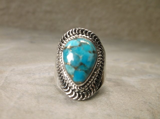 Gorgeous Sterling Silver Turquoise Ring 8