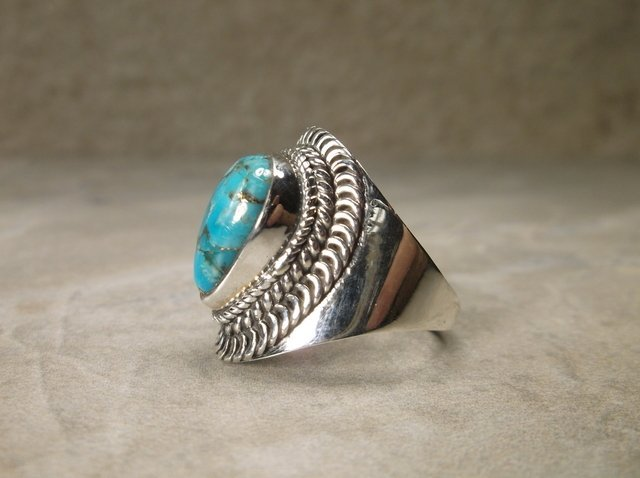 Gorgeous Sterling Silver Turquoise Ring 8 - 2