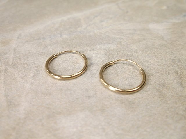 Gorgeous 14kt Gold Hoop Earrings Small